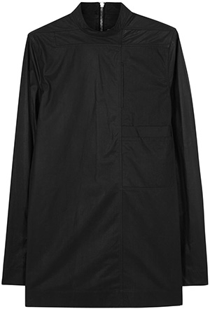 Rick Owens Black coated cotton men's shirt : £1,155.