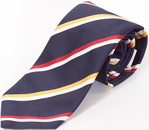 Richard Anderson Navy with Red/Yellow Stripe Silk Tie: £119.