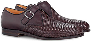 Ludwig Reiter Kapuziner Woven leather (Calabrian weave), welted, Tuscan last, side buckle, leather/linen lining, leather outer soles. Colour: dark brown men's shoes: €698.