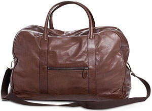 Ludwig Reiter Traveller Men's Bag made of horse nappa leather with a metal zipper.
