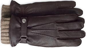 Johnston & Murphy 3-in-1 Deerskin/Cashmere men's gloves.