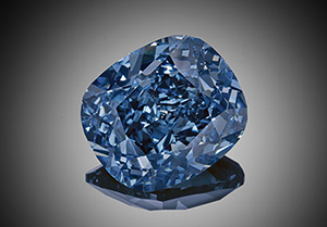 Blue Moon of Josephine Diamond - 12.03-carat Fancy Vivid Internally Flawless Blue diamond.