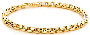 Tiffany & Co. Men's Square Link Bracelet in 18k gold.