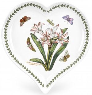 Portmeirion Botanic Garden Heart Dish - Belladonna Lily: £41.50.