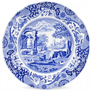 Spode Blue Italian 10-inch Dinner Plates Set of 4: £68.