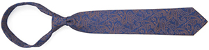 Edward Armah Blue Orange Paisley Tie: US$125.