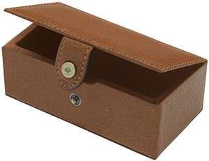 Mulberry Cufflinks Box in Oak Natural Leather: £125.