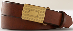 Todd Snyder Brown Slider Belt: US$125.