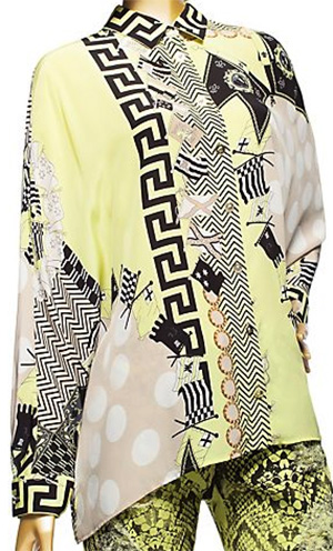Versace Acid Medusa Print Silk women's shirt: US$1,295.