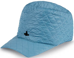 Vivienne Westwood men's light blue quilted cap: €175.