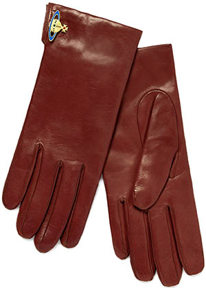 Vivienne Westwood women's orb gloves 2072 orange: €220.