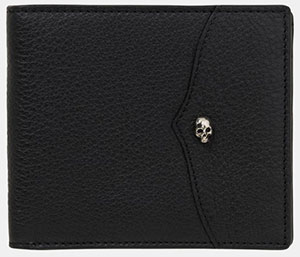 The Kooples Wallet in Grain Leather with a Death's Head Rivet: £135.