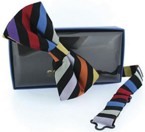 Choice Multi Coloured Stripe Self Tie Bow Tie: £14.99.