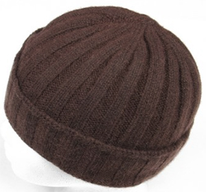 Edward Armah Cashmere Knit Hat in Dark Brown: US$140.