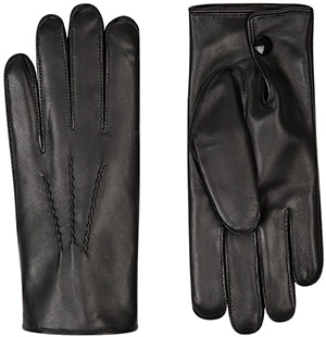 Harrods Rabbit Fur-Lined Men's Leather Gloves: £140.