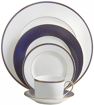 Waterford Lismore Diamond Lapis 5-Piece Place Setting: US$99.