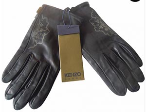 Kenzo Men's Leather Gloves: €70.