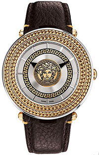 Versace Silver V-Metal Icon 46MM men's watch: US$1,695.