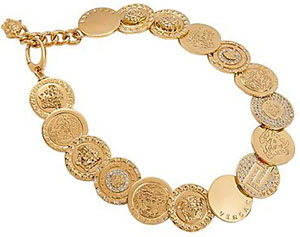 Versace Women's Medusa Coin Necklace: US$1,595.