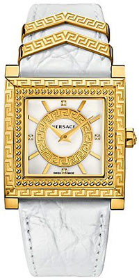 Versace White and Gold DV-25 women's watch: US$1,995.
