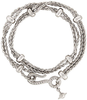 Vivienne Westwood Alonso Wrap Men's Bracelet Antique Rhodium: €125.
