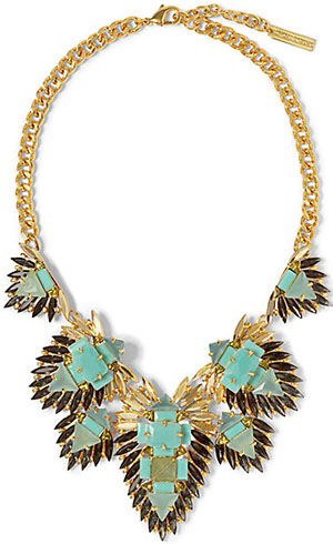 Vince Camuto Stone Cluster Drama Necklace: US$188.