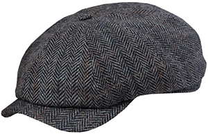 Wigéns Slim Fit Herringbone Newsboy Cap: US$135.