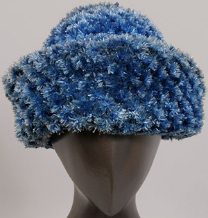 Blue Raffia Hat Bill Cunningham.