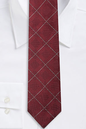 'T-Tie 7.5 cm' | Regular, Silk Diamond Patterned Tie by BOSS: US$145.