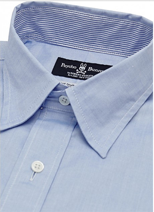 Psycho Bunny Kent Sport Shirt - Blue Oxford: US$145.