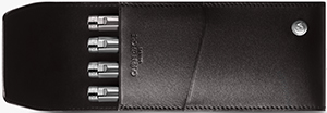 Caran d'Ache Ebony 4-pen Holder: £145.