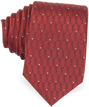 Saint Laurent Signature and Polkadots Narrow Tie at Forzieri: US$145.