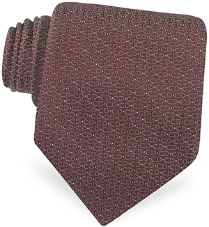 Christian Dior Dotted Logo Woven Silk Tie: US$110.