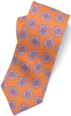 Paul Stuart ovate medallion silk madder tie: US$139.50.