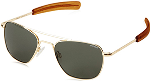 Todd Snyder Aviator Sunglasses by Randolph Engineering in Fall Gold Men's Sunglasses: US$149.
