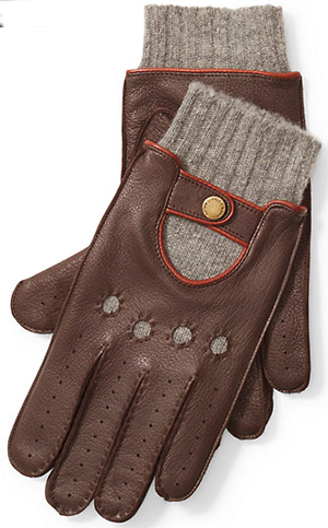 Ralph Lauren Men's Deerskin Driving Gloves: US$150.