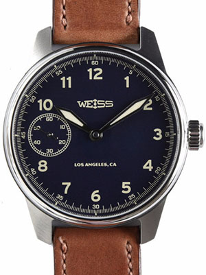 Weiss Watch Company Limited Issue Field Watch Dark Blue Dial: US$1,500.