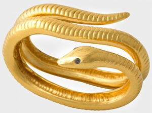 Zadig & Voltaire Ring snake Pamela Love for Zadig et Voltaire, 100% brass: US$310.