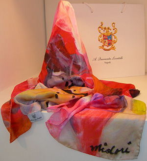 A.Quaranta Locatelli Pure Silk Foulard, Signed by Artist, Limited Edition: €160.