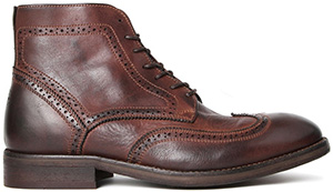 Hudson Shoes Anderson Drum Dye Brown Boot: $349.