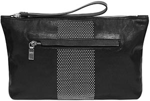 Alexander McQueen Men's Studded Long Big Zip Pouch: US$745.