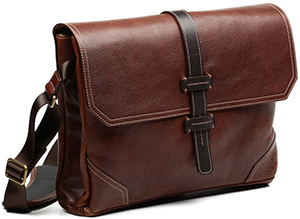 Allen Edmonds Leather Messenger Bag: US$350.