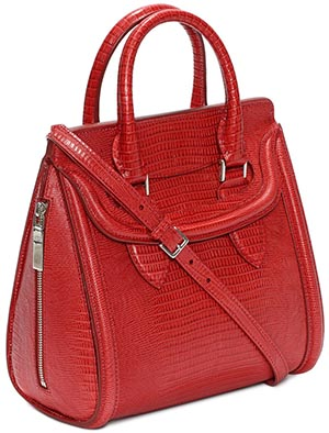 Alexander McQueen Women's Calf Leather Embossed Small Heroine Bag: US$2,295.