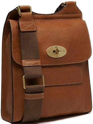 Mulberry Anthony Oak Natural Leather Men's Satchel: US$790.