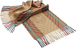 Bentley Men's Diamond Grille Jacquard Scarf in Tan: £125.