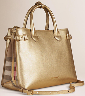 Burberry The Medium Banner in Leather and House Check Bag: US$1,895.