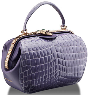 Bvlgari Serpenti Hypnotic top handle women's bag.