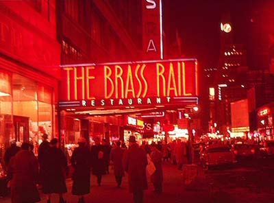 The Brass Rail, 745 Seventh Avenue (at 49th Street).