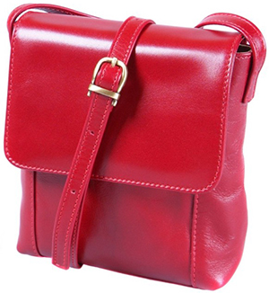 Sage Brown Red Marian Shoulder Bag: £155.