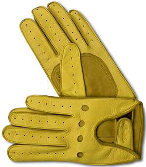 Pineider Long Yellow Racing Gloves: €160.